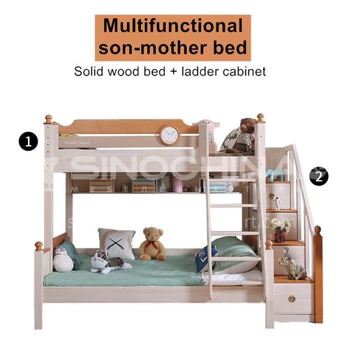 JFD-522 Bedroom Modern Solid Wood Frame Sponge Mattress Double Bed
