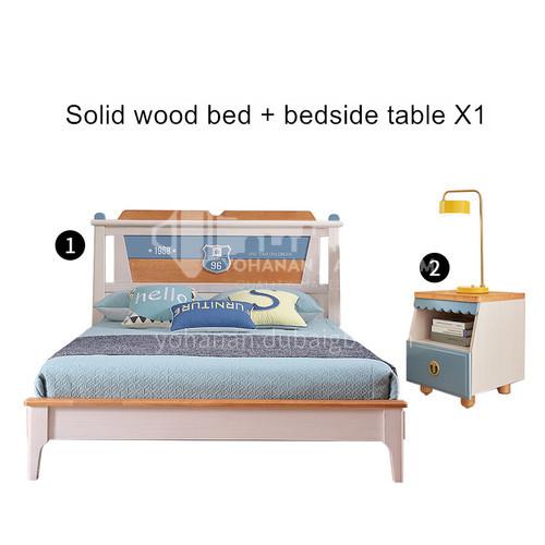 JFD-525 bedroom modern solid wood frame foam mattress children bed