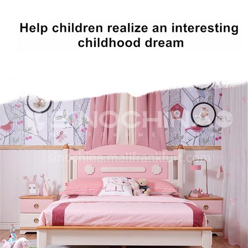 JFD-528 bedroom modern solid wood frame foam mattress children bed
