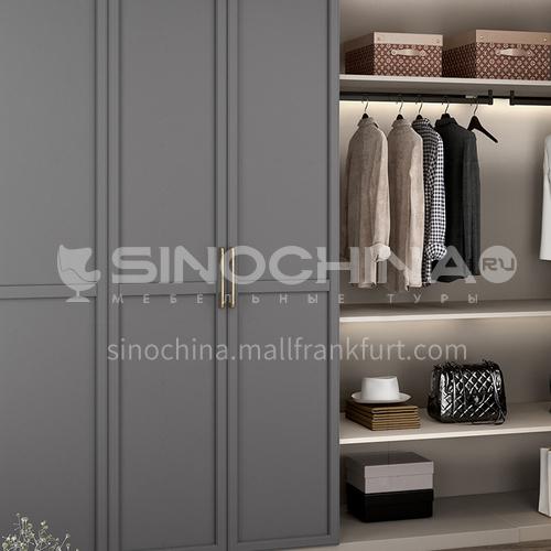 European style wardrobe classical PVC WITH HDF wardrobe-GW-039