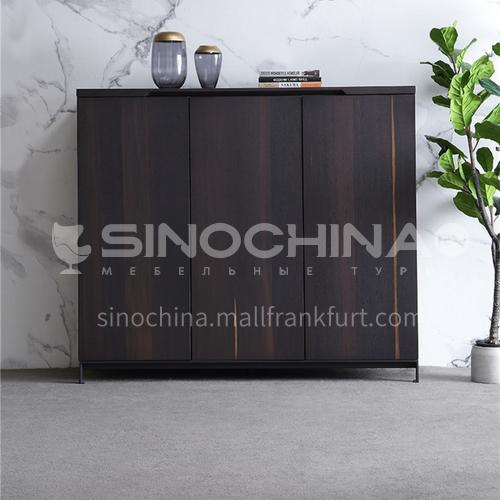 KYL-KK3781 Living room black wood grain shoe cabinet, high-end shoe cabinet