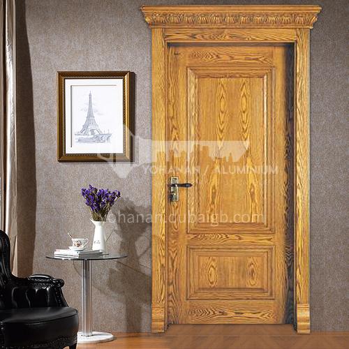 American red oak classical design solid wood door with door head Roman column11