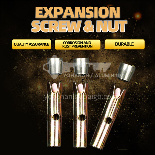 Expansion screws for PVC ceiling