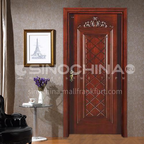 Congo Sapele solid wood door classical design log solid wood door18