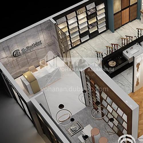 Showroom Design- 100m² showroom design BSR1002