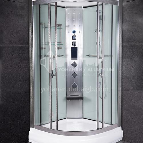 Household  steam shower room   sliding door    shower room    wet steamed tempered glass      fan-shaped shower room