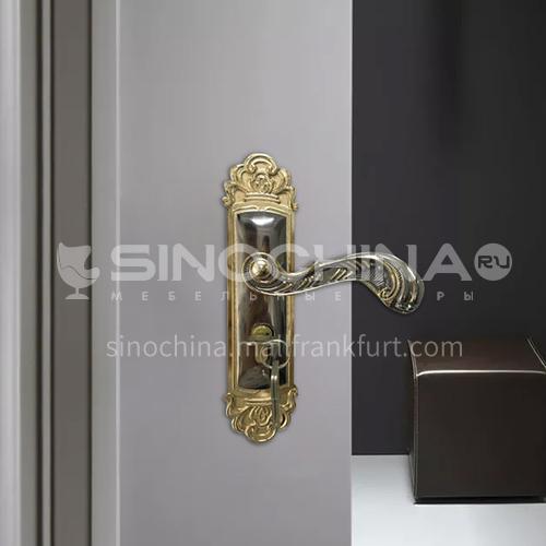 B Aluminum alloy durable titanium black gold door lock wooden door wood plastic door lock set 08