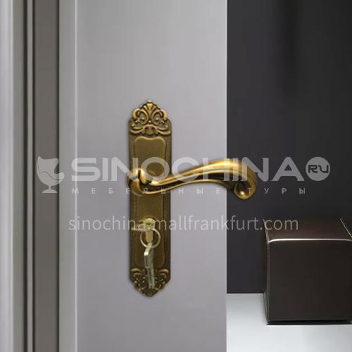 B Aluminum alloy yellow bronze interior door lock wooden door wood plastic door lock set 07