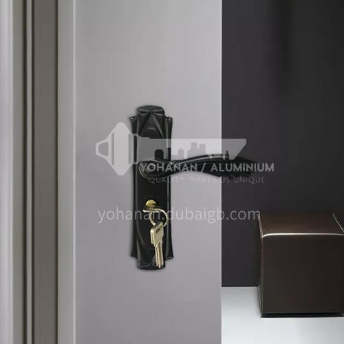 B Aluminum alloy black interior door lock wooden door wood plastic door lock set 06