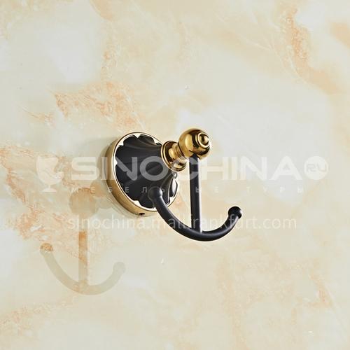 European classical stainless steel gun black gilded coat hook80301