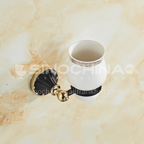European classical stainless steel gun black gold-plated mouthwash cup holder80302