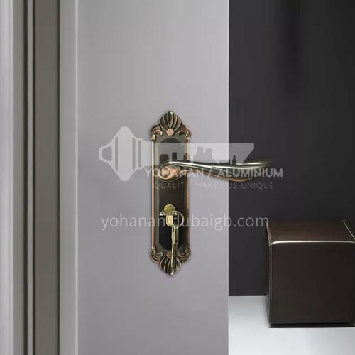 B Classic luxury zinc alloy French red bronze lock mute lock indoor wooden door lock set 46