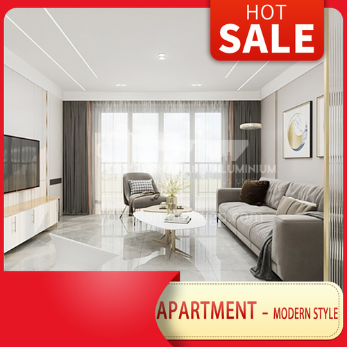 Apartment Design-Modern Light Luxury Style Apartment Design BSR1008