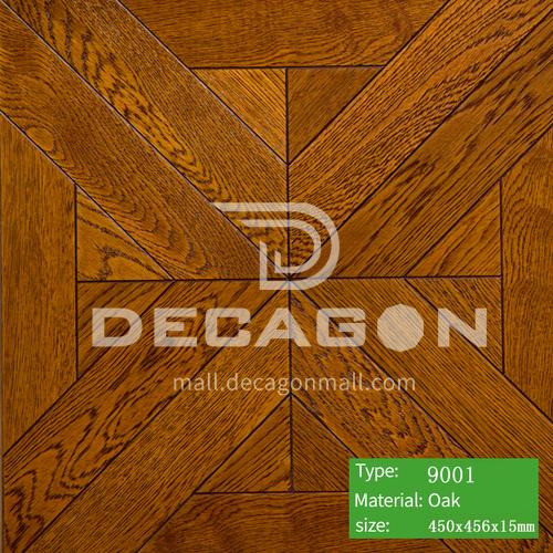 15mm multi-layer solid wood art parquet flooring 9001