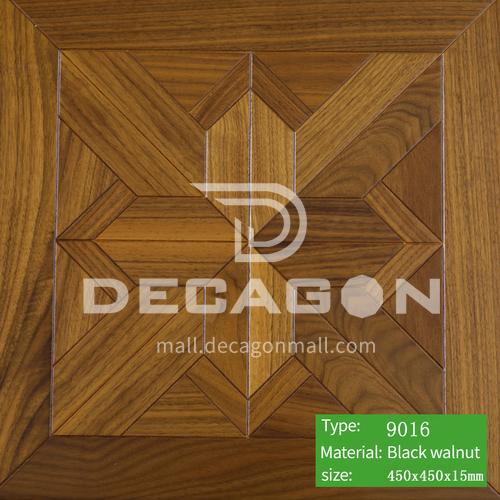 15mm multi-layer solid wood art parquet flooring 9016