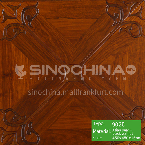 15mm multi-layer solid wood art parquet floor 9025