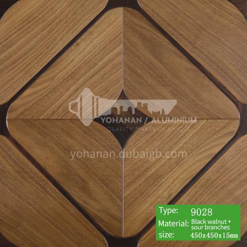 15mm multi-layer solid wood art parquet floor 9028