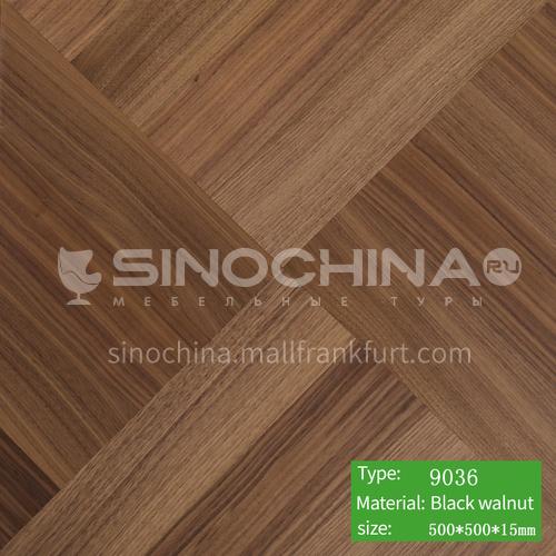 15mm multi-layer solid wood art parquet floor 9036