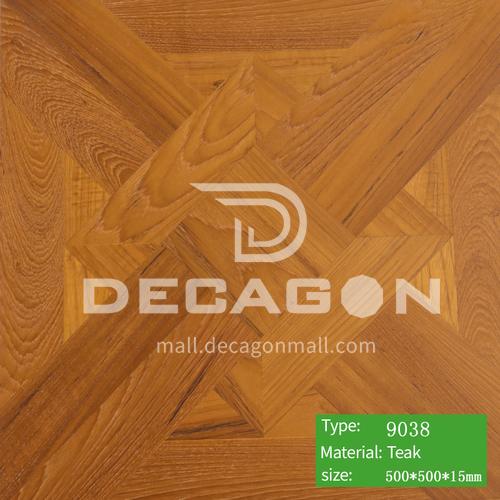 15mm multi-layer solid wood art parquet floor 9038