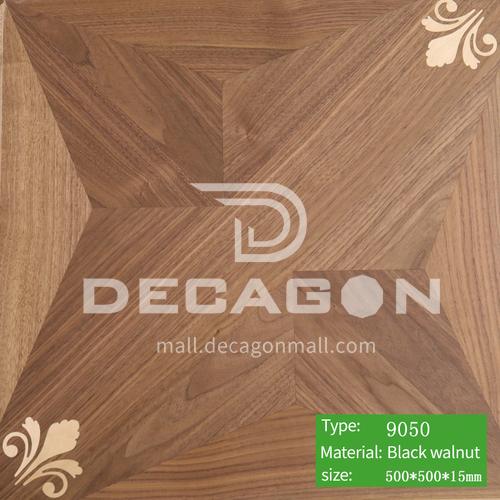 15mm multi-layer solid wood art parquet floor 9050