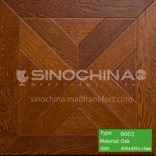 15mm multi-layer solid wood art parquet floor 9003
