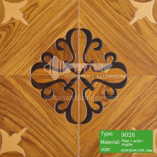 15mm multi-layer solid wood art parquet floor 9026