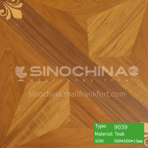 15mm multi-layer solid wood art parquet floor 9039