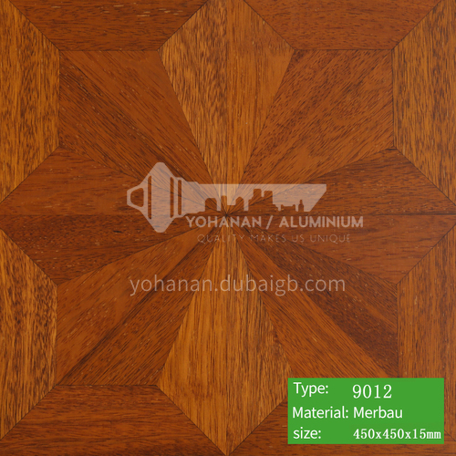15mm multi-layer solid wood art parquet floor 9012