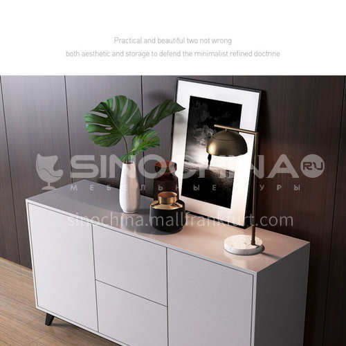 KYL-KK3735 Italian minimalist sideboard modern minimalist dining room cabinet solid wood four-drawer cabinet Marillo entrance cabinet storage cabinet