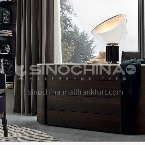 KYL-KK3783 Italian minimalist sideboard modern minimalist dining room cabinet solid wood four-drawer cabinet Marillo entrance cabinet storage cabinet