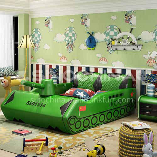BX-3 Bedroom high-density sponge fashion high-end tank model children bed