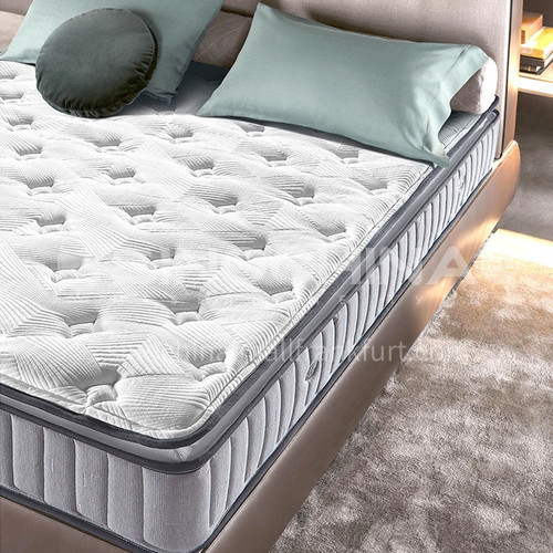 BC-C27 - Bold carbon steel spring, natural latex on the front, high-grade knitted fabric, natural latex mattress