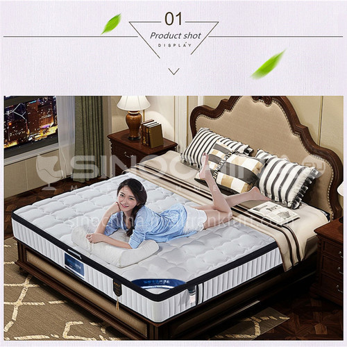 BC-ST-6- Knitted fabric, stainless steel spring, soft bottom, parallel net, side sponge sealing, comfortable skin-friendly mattress
