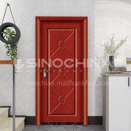 High quality simple style composite paint solid wood door hotel apartment room door 12
