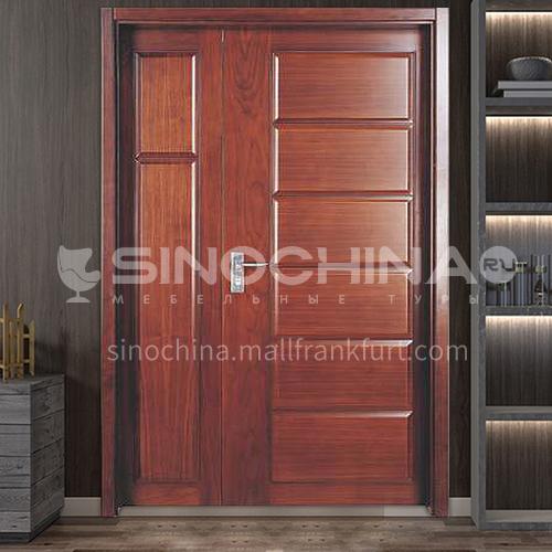 American red oak log solid wood door mother-in-law door outdoor wooden door 3