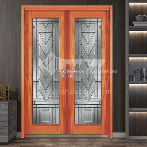 North American Walnut Log Door Solid Wood Door Double Opening Door Outdoor Wooden Door 8