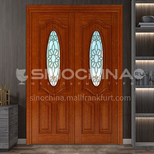 Burma teak luxury classic style new style outdoor gate entrance gate log door anti-theft security 13