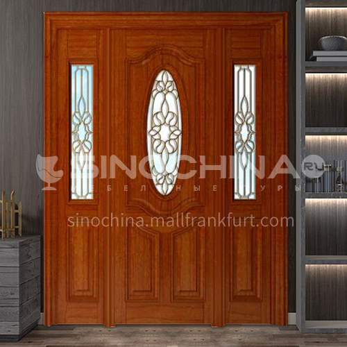 G Thailand oak door luxury classic style new style outdoor door entrance door log door anti-theft security 14