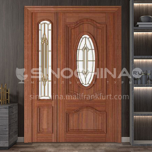 Burma teak luxury classic style new style outdoor gate entrance gate log door anti-theft security15