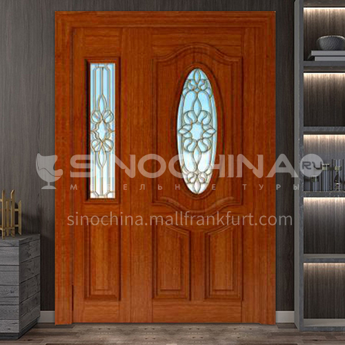 G Thai oak luxury classic style new style outdoor gate entrance gate log door anti-theft security 16