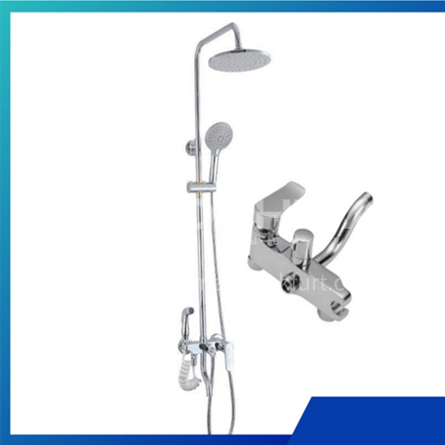 Bathroom multi-function multi-level water outlet with spray gun, large top spray shower, 50071
