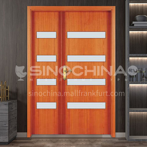 G Thai oak luxury classic style new style outdoor gate entrance gate log door anti-theft security 18