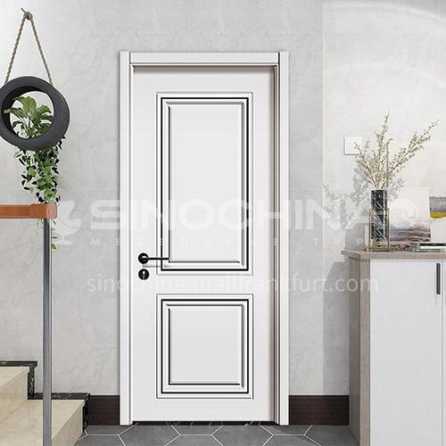 Modern minimalist design mute composite paint solid wood door hotel apartment room door 23