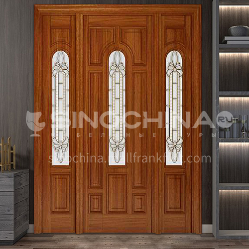 G North American walnut luxury classic style new style outdoor gate entrance gate log door anti-theft security door 21