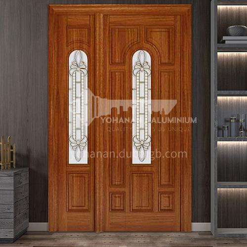 G Thailand oak door luxury classic style new style outdoor door entrance door log door anti-theft security 22