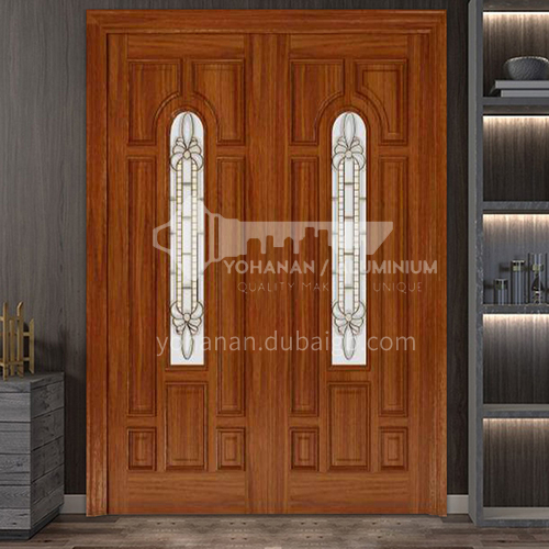 G North American walnut luxury classic style new style outdoor gate entrance gate log door anti-theft security 23