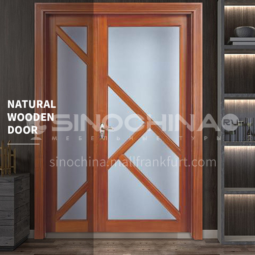 G Thai oak luxury classic style new style outdoor door entrance door log door glass anti-theft security 25