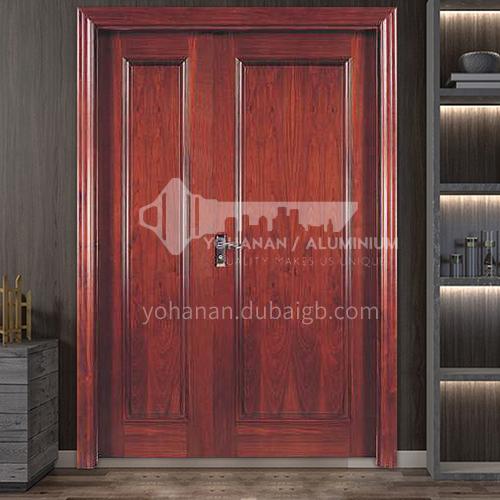 G Thai oak door luxury classic style new style outdoor door entrance door original wooden door child and mother door anti-theft security 26