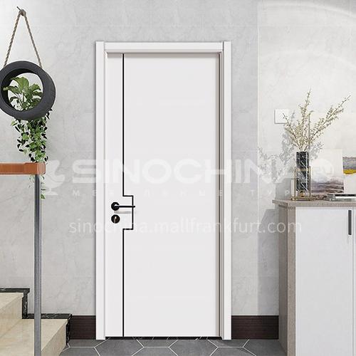 Modern minimalist design mute composite paint solid wood door hotel apartment room door 24