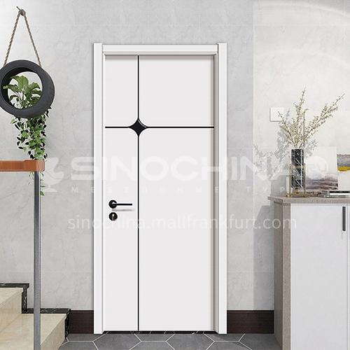 Simple design mute composite paint solid wood door hotel apartment door 25